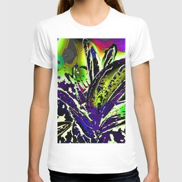 Vivid Foliage in Purple and Lime T-shirt