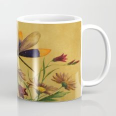 Stained Glass Dragonflies & Flowers Mug