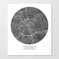 stockholm Canvas Prints featuring Stockholm by Nathan Woulfe