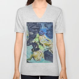 Sea sketches 1 Unisex V-Neck