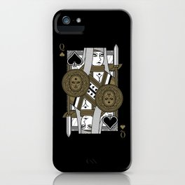 Omnia Suprema Queen of Spades iPhone Case