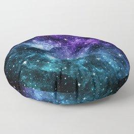 Purple Teal Galaxy Nebula Dream #1 #decor #art #society6 Floor Pillow