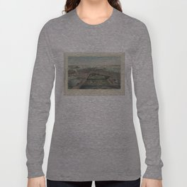 Vintage Pictorial Map of Boston MA (1850) Long Sleeve T-shirt