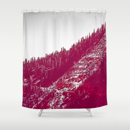 A red velvet myst fogged his eyes but they were evergreen Shower Curtain