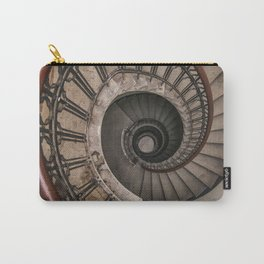 Spiral staircase in pastel brown tones Carry-All Pouch
