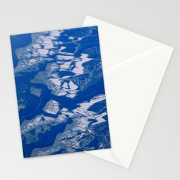 Lake Erie, frozen Stationery Cards