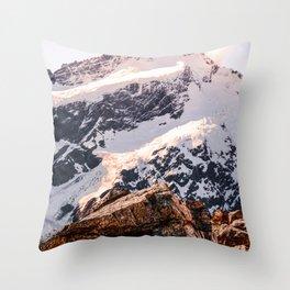 Snowy Mountains 2 Throw Pillow