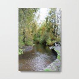 Autumn Creekside Metal Print