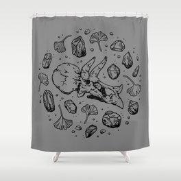 Triceratops Rocks! | Black Shower Curtain