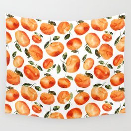 Watercolor tangerines Wall Tapestry