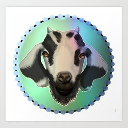 Cute goat Art Print