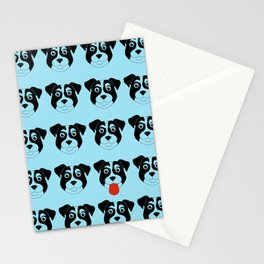 Dogs Blue Stationery Cards