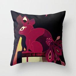 Kitsune no Kompanion Throw Pillow