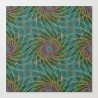 fractal Canvas Prints featuring Fractal by David Zydd
