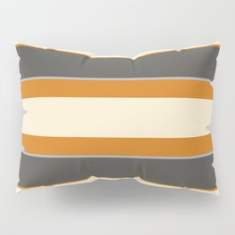 Minimal Abstract Vintage Cream Orange Grey 07 Pillow Sham