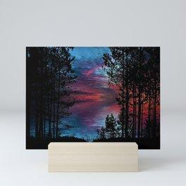 Ashland Causeway Sunset - Scituate Reservoir, Rhode Island Landscape Mini Art Print