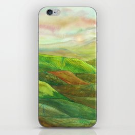 Lines in the mountains XVI iPhone Skin