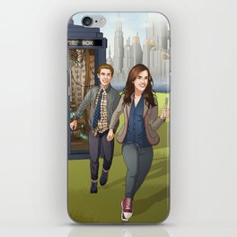 Fitzsimmons - Running Through Time and Space iPhone Skin