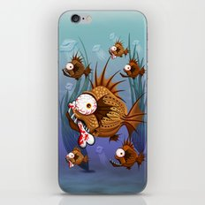 Psycho Fish Piranha with Bone iPhone Skin