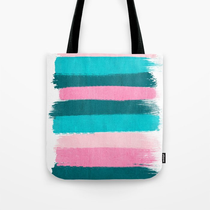 Holden - abstract painting minimal brushstrokes painterly boho modern trendy girly art Tote Bag