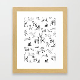 Animals pattern Framed Art Print