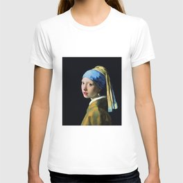 Jan Vermeer Girl With A Pearl Earring T-shirt