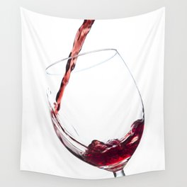 Elegant Red Wine Photo Wall Tapestry