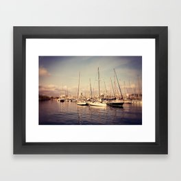 Port Vell Barcelona Spain Framed Art Print
