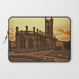 WW2 Bombed out Church Liverpool (Digital Art) Laptop Sleeve