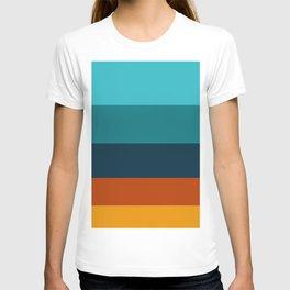 Sunflower Colorful Stripes Colour Block Stripes T-shirt