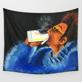 """HERE'S TO FEELIN' GOOD ALL THE TIME"" Wall Tapestry"