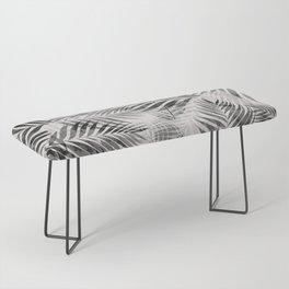 Palm Leaves - Black & White Bench