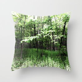 487 - Spring Forest Throw Pillow