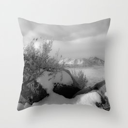 Mountain Hot Springs Throw Pillow