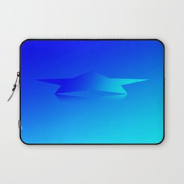 Star Flight Space Carrier - Midnight Navy Blue Turquoise Laptop Sleeve