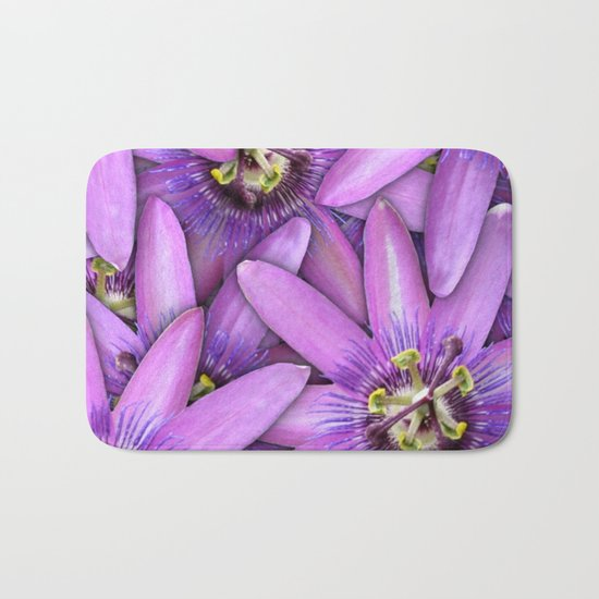 Passion Fruit Blossoms Bath Mat