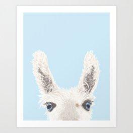 The Llama (Digital Painting) Art Print