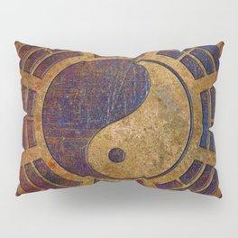 Purple Yin Yang Sign on Granite Pillow Sham