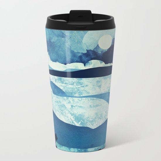 Blue Desert Metal Travel Mug
