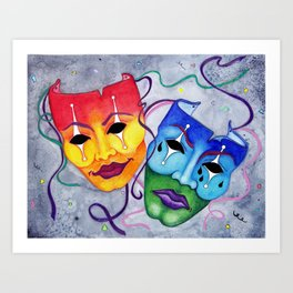 Comedy and Tragedy Art Print