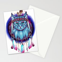 Dreamcatcher Cat Stationery Cards