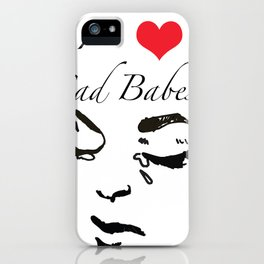 Sad Babe Detail iPhone Case