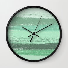 Stripey Mint Wall Clock