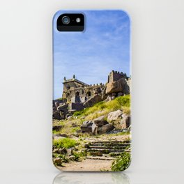 Stone Steps Leading up to the Temple Area of Golconda Fort in Hyderabad, India iPhone Case