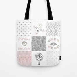 Sweet Dreams Little Princess Cheater Quilt Tote Bag