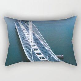 Oakland - San Francisco Bay Bridge Rectangular Pillow