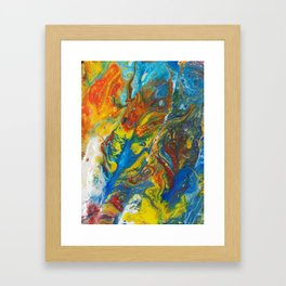Flying Free in the Heat of the Day Framed Art Print