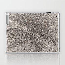 Vintage Map of Paris France (1837) Laptop & iPad Skin