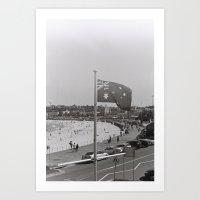 Bondi Beach Australia Black & White Photography Art Print