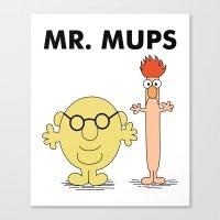Mr Mups Canvas Print